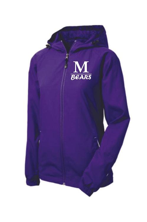 Women's Purple Hooded, Lined Jacket