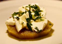 Berenjenas fritas enmeladas con queso  (Sweet fried eggplant)