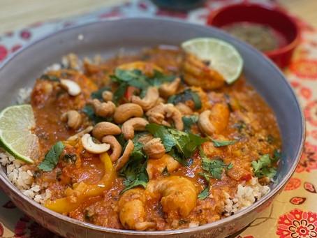 Viagem: Coconut Shrimp Curry
