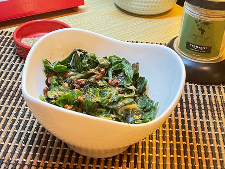 Resilient: Sautéed Mixed Greens with Pancetta