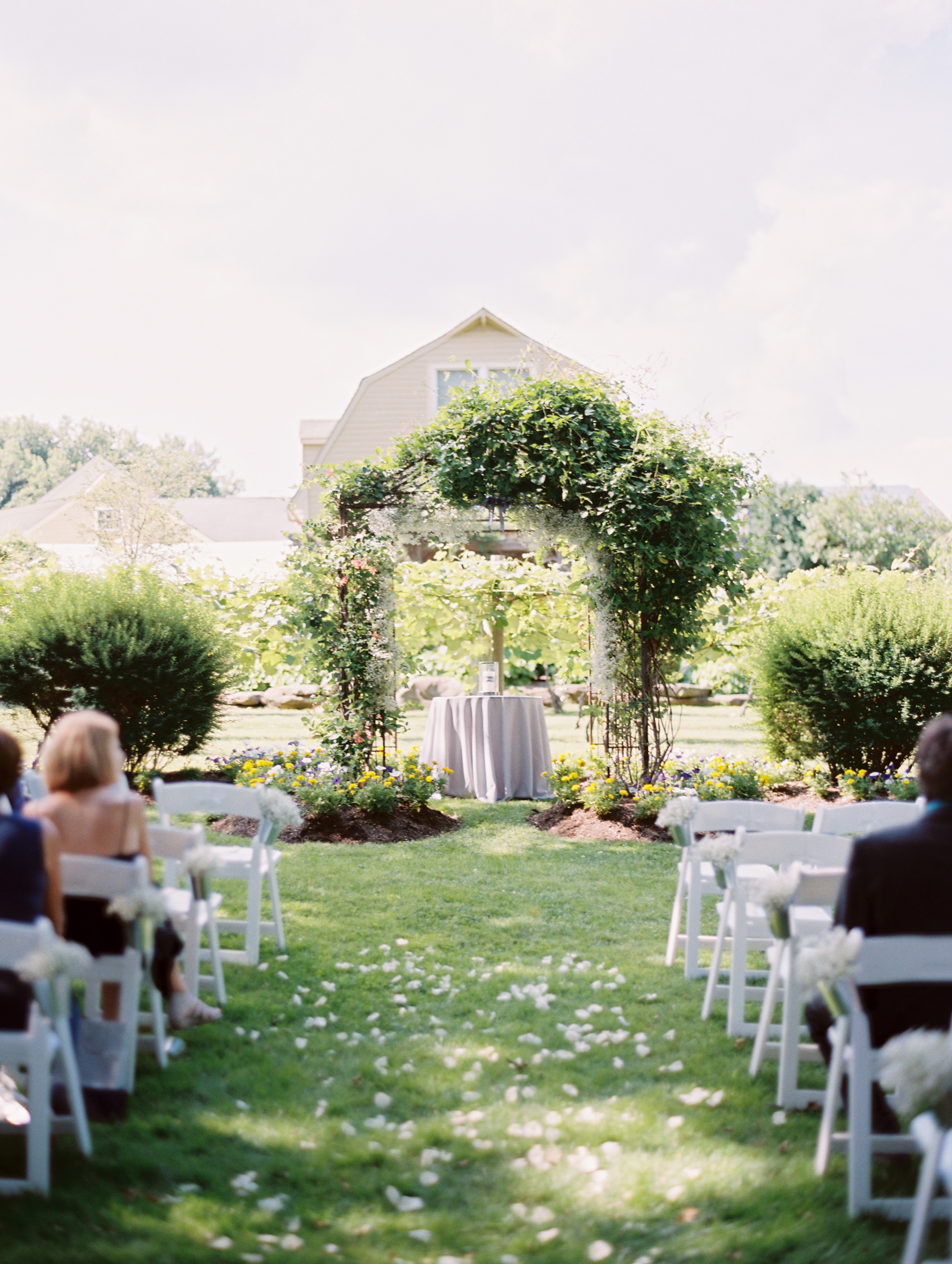 ceremony grounds with people