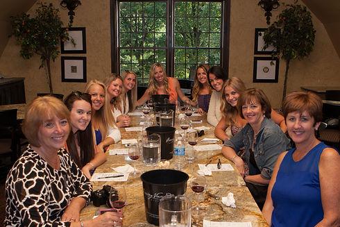 wine class participants