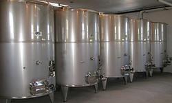 the wine tanks
