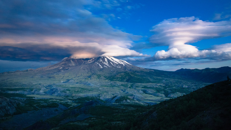 Blue Hour at Mt St. Helens