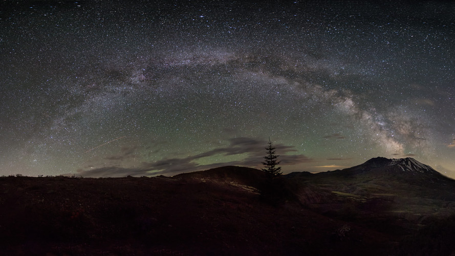 Milky Pano at St.Helens