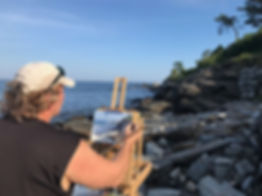 Bill Plein air Proust Neck Maine_150.jpg