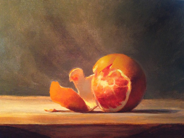 Bill Graf was invited to demonstrate painting a Still Life for the Rockville Art Club