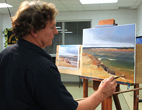 Bill Graf Demonstrates Landscape Painting in Oil for the Suburban Art League