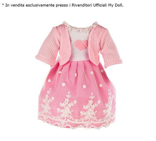 *Vestito Rosa con Cuore e Giacchetta