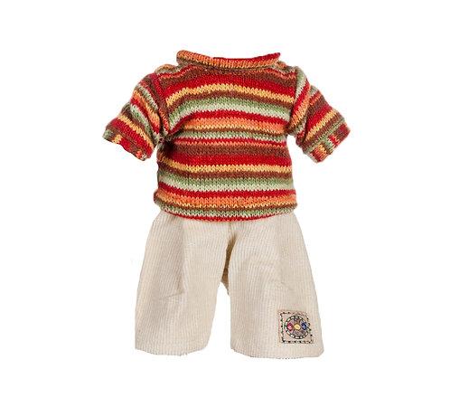 Vestito Maglia a Righe e Pantaloni