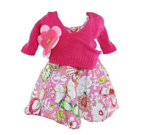 Vestito Rosa con Copri Spalle