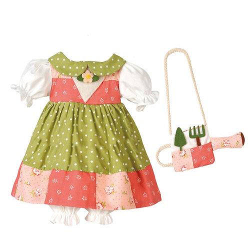 Vestito Patchwork Verde&Rosa