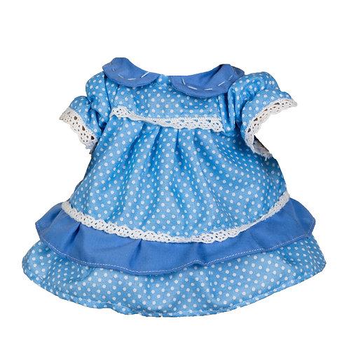 Vestito Blu a Pois