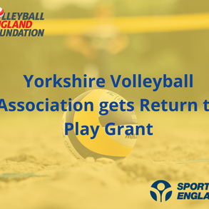 Returning to play with help from Sport England and Yorkshire Volleyball Association