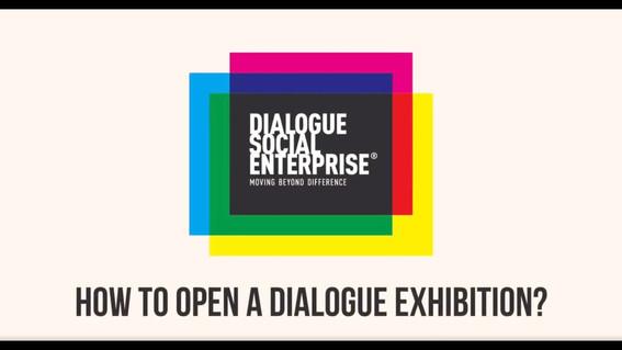 How to open a diaglogue exhibition