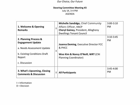 Review The Agenda For Our Steering Committee