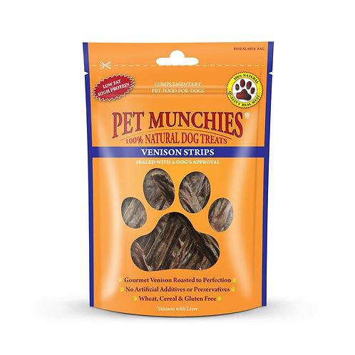 Pet Munchies venison strips 75G
