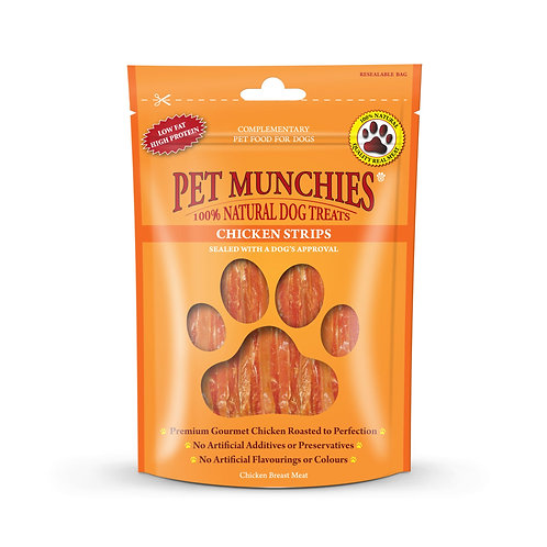 Pet Munchies chicken strips 90G