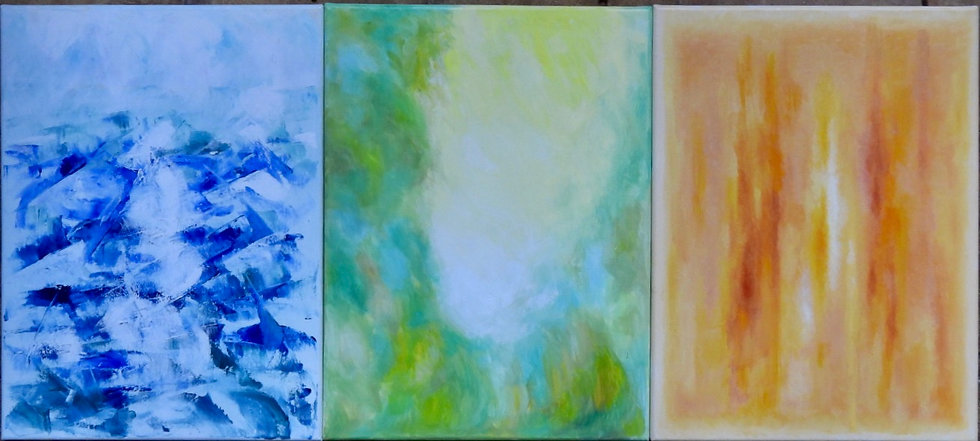 """""""Elements 1, 2, 3"""" - Set of 3 priced as one"""