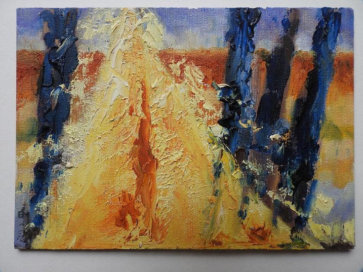 Fire Rising to horizon between Blues