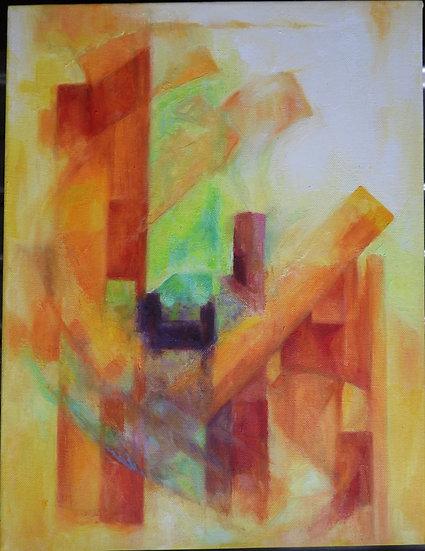 orange sloping blocks