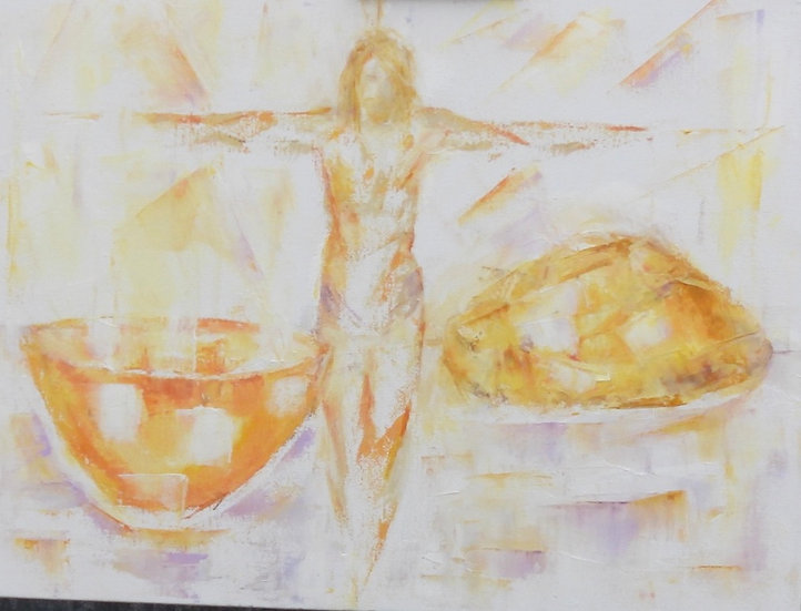 pale figure & bread & wine