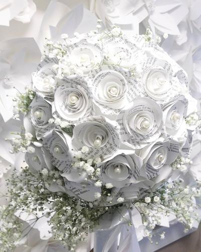 Custom Paper Flower Bridal Bouquet