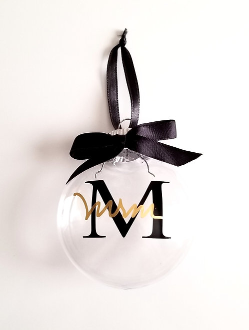 (4) Clear Disc Holiday Ornaments (Personalize It)