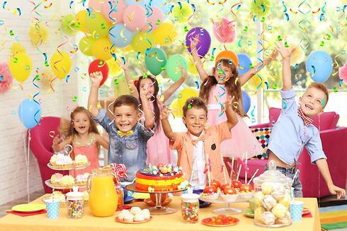 Children's funny birthday party in decor