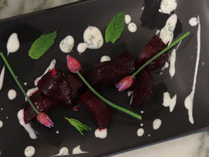 Roasted Beets Herbed Yogurt Sauce
