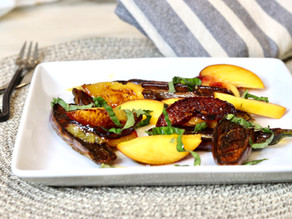 Grilled Eggplant & Peaches
