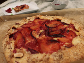 Plum Crostata Orange Flower Franzipane
