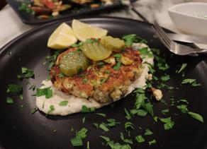 Tofu Vegetable Burgers~  Lemon Tahini Dressing