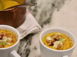 Roasted Butternut Squash Soup with Coconut Milk ~ Vegan