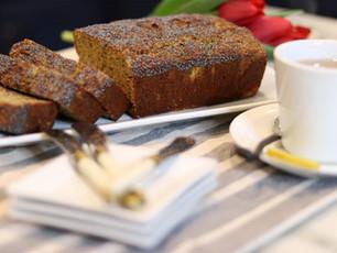 Fresh Baked Banana Bread ~  Low Carb, & Grain free