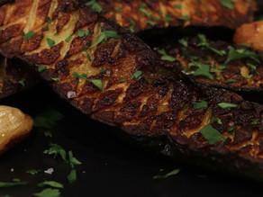 Pan Seared Scored Zucchini ~ Vegan