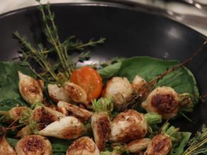 Roasted Turnips with Crispy Garlic