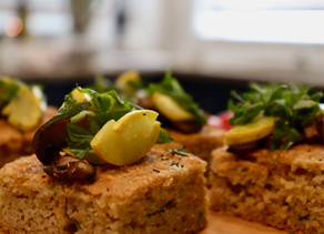 Almond Focaccia Grilled Vegetables  ~ Paleo