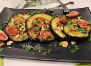 Baked Eggplant Crispy Garlic Local Figs