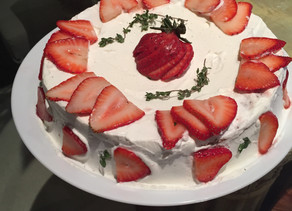 Strawberry Shortcake with Coconut Cream