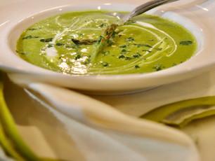 Spring Asparagus & Sorrel Soup