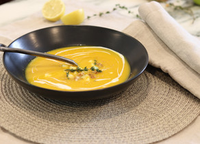 Roasted Butternut Squash Soup Brown Butter