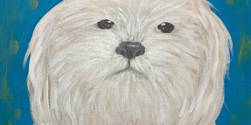 "Adult Sip and Paint Canvas ""Paint your Pet"""