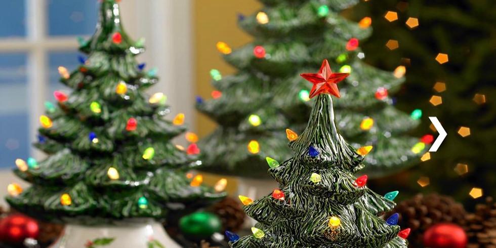 Vintage Christmas Tree Painting Night