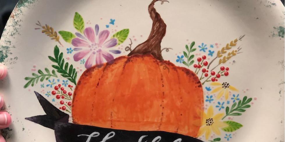 Harvest Pumpkin Plate