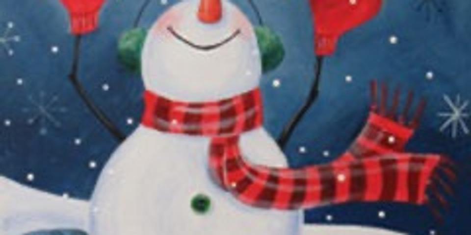 Kids Sunday Snowman Holiday Canvas