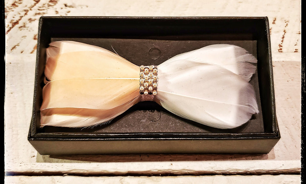Bella Feather Bow Tie