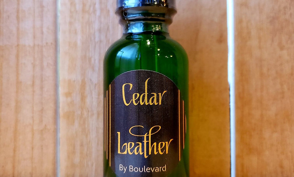 Cedar Leather Beard Oil