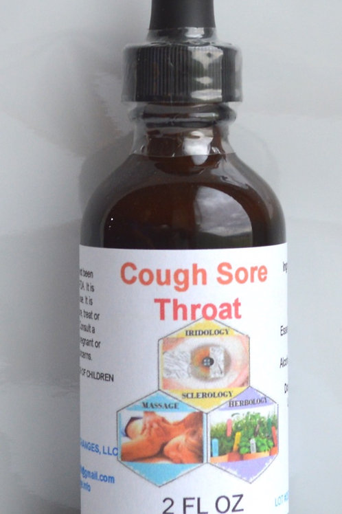 Cough Sore Throat Herbal Formula Tincture 2 oz