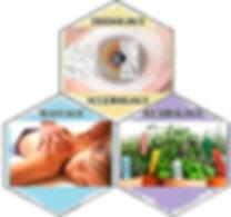 Iridology, Massage, Sclerology, Herbology